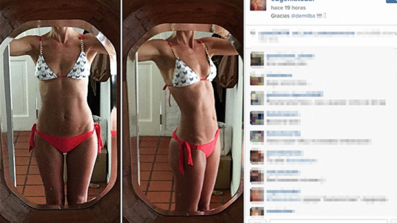Eugenia Tobal se animó a una selfie veraniega (Foto: Instagram).