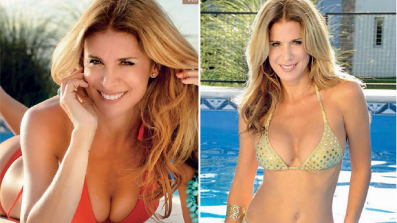 Flavia Palmiero, una diosa de 48 años en bikini: