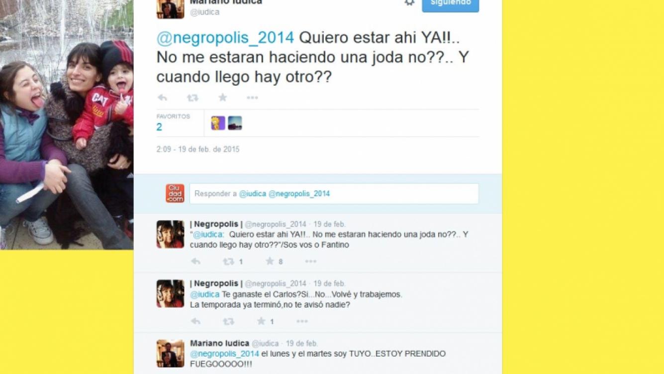 Las bromas de Iúdica y Vernaci en Twitter por la radio.
