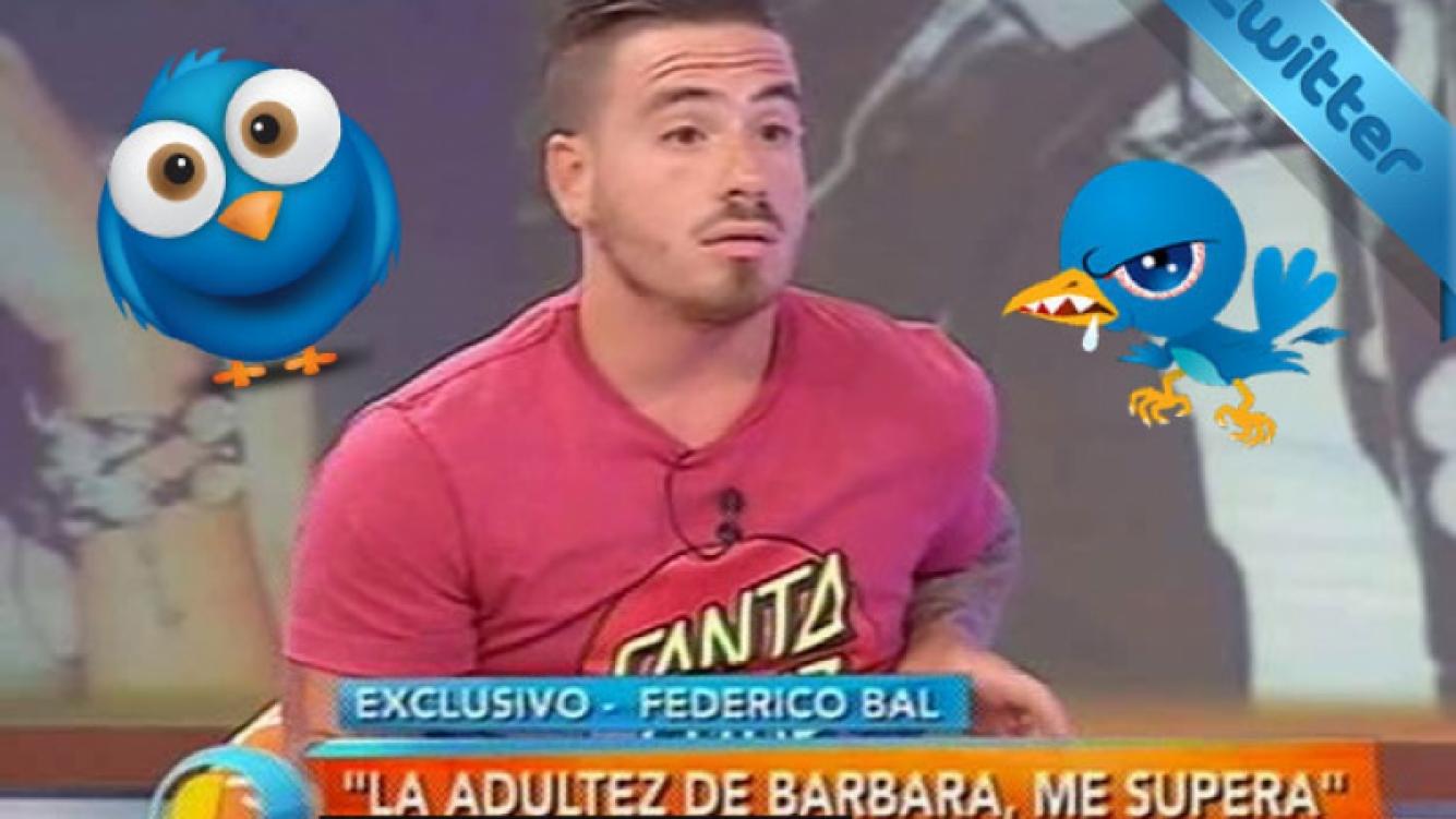 Federico Bal y el videograph de Intrusos que despertó sorpresa e indignación tuitera. (Foto: captura)