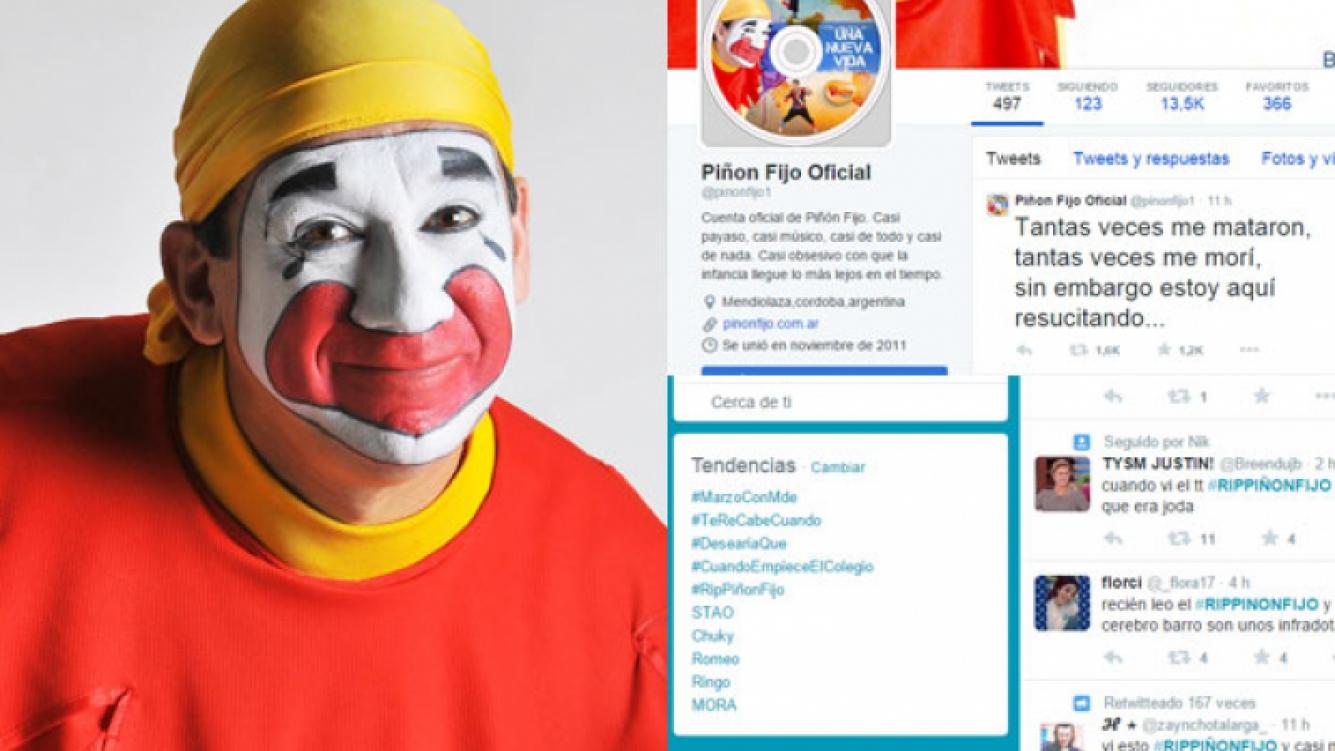 Piñón Fijo, víctima de una broma de mal gusto en Twitter (Fotos: Web y Captura).