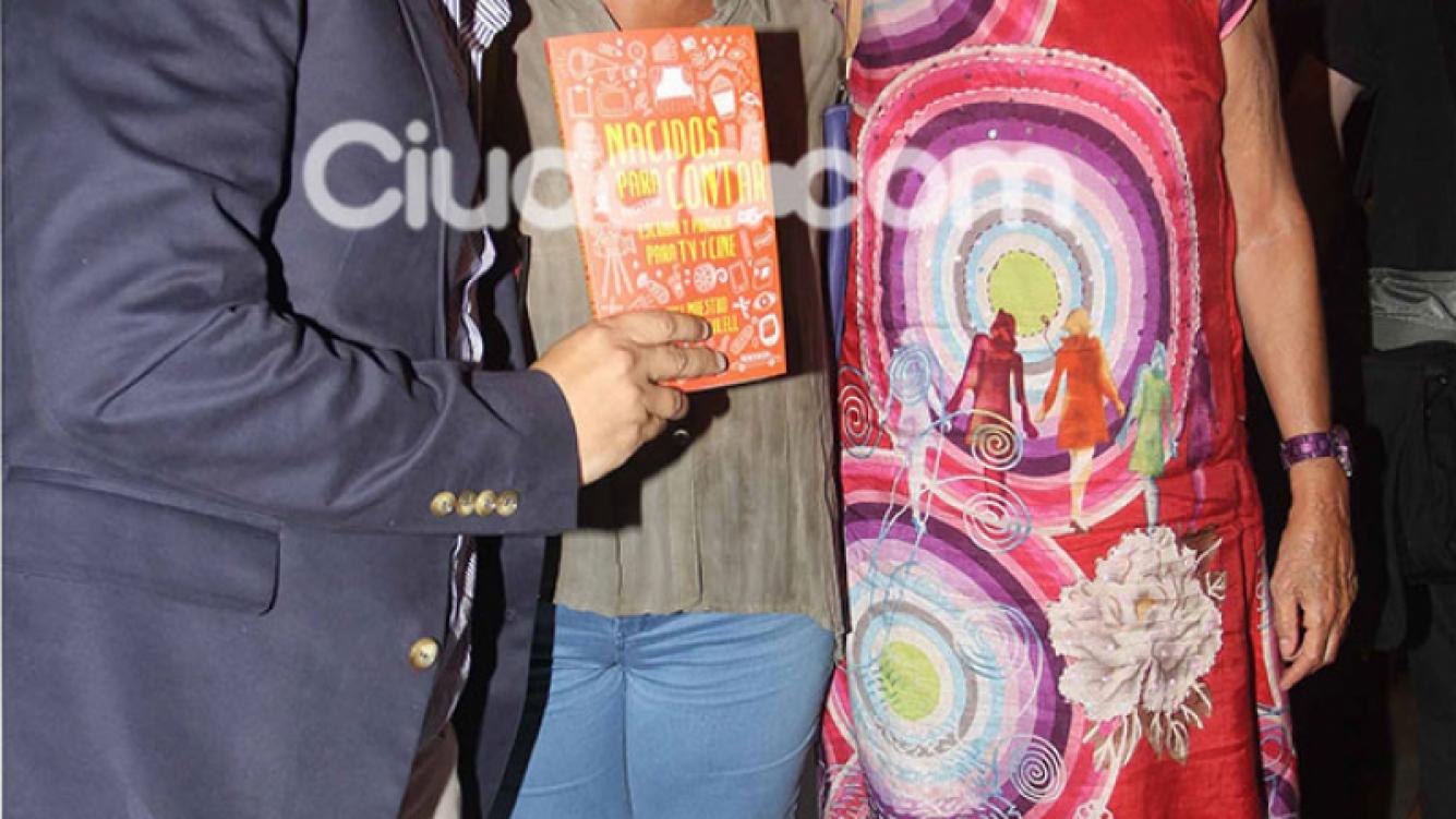 Los famosos en la presentación del libro de Culell y Maestro (Fotos: Movilpress).