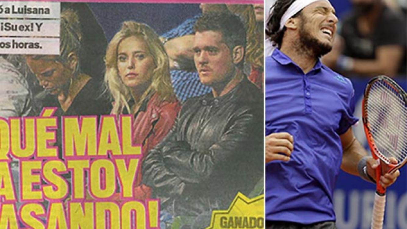 Luisana Lopilato y Michael Bublé fueron a ver al ATP de Buenos Aires. (Fotos: Muy y Web)