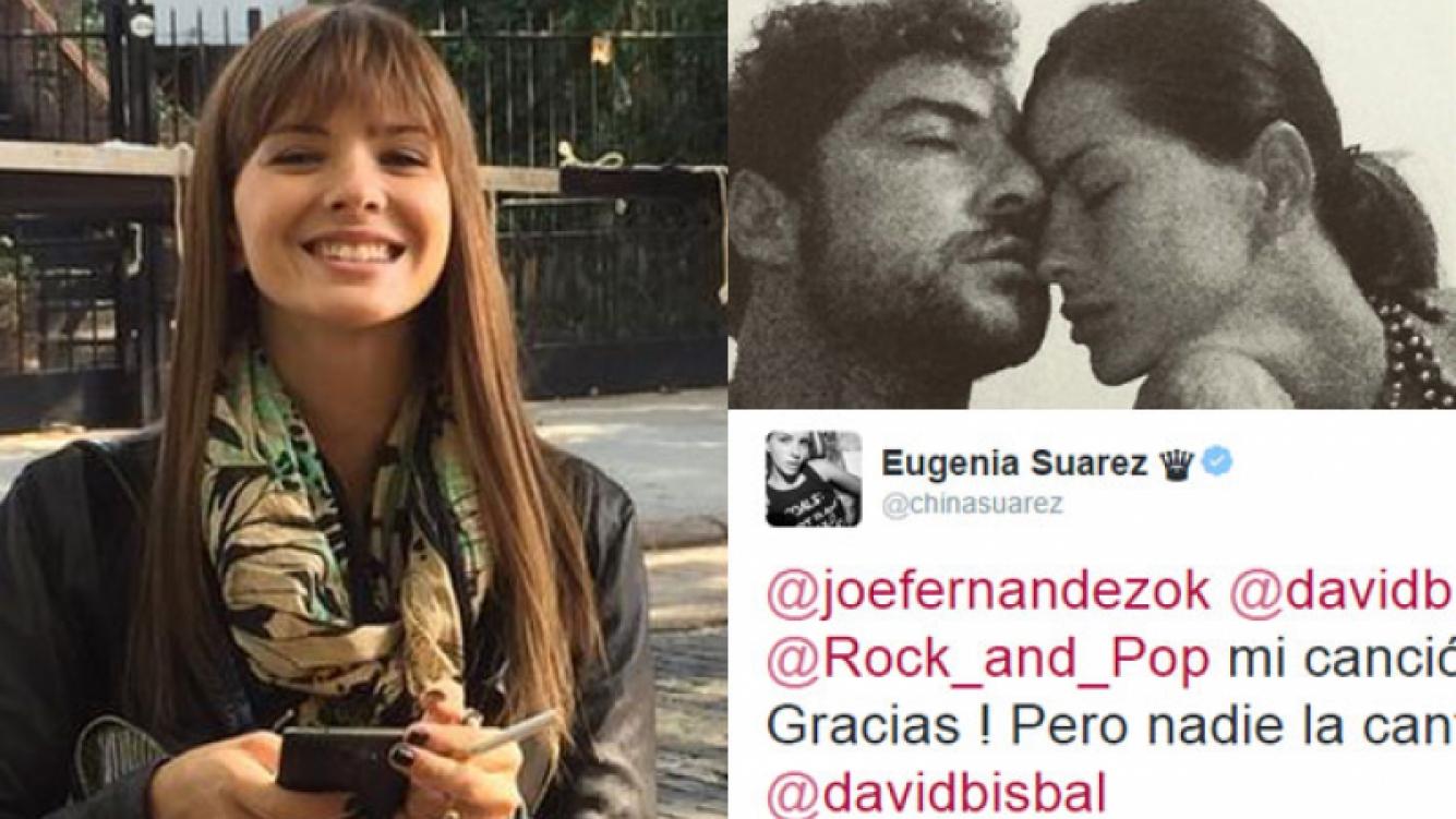 "La China Suárez, ""muerta"" de amor por David Bisbal (Fotos: Twitter e Instagram)."