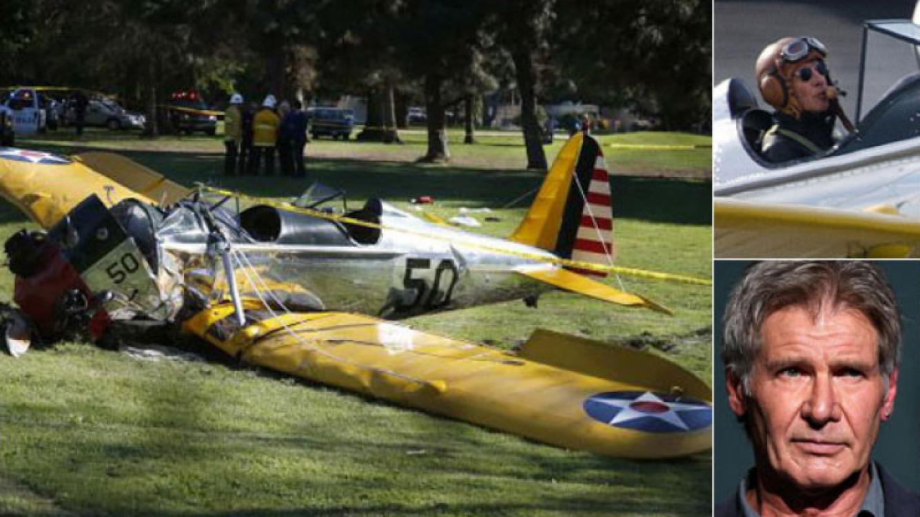 Harrison Ford se estrelló con una avioneta y está grave.