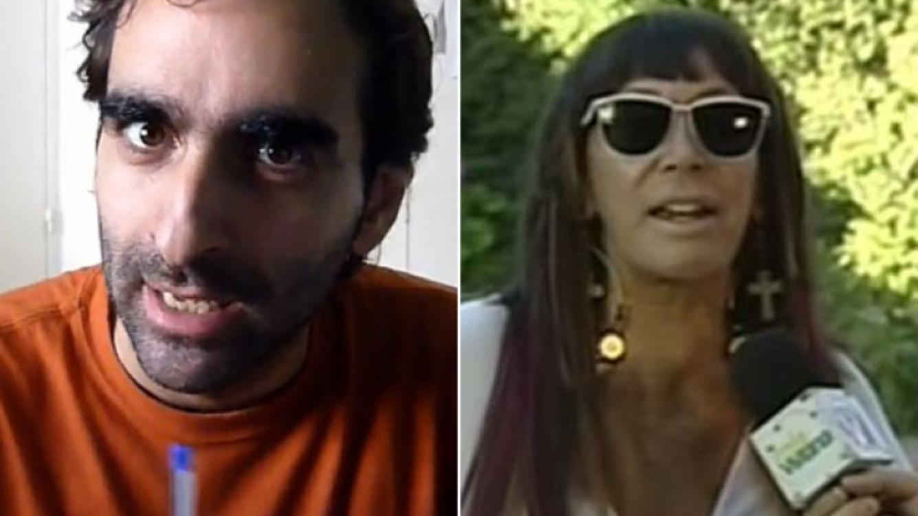 Andres Ignacio Granier y su Dubsmash de Moria Casán. (Foto: Web)