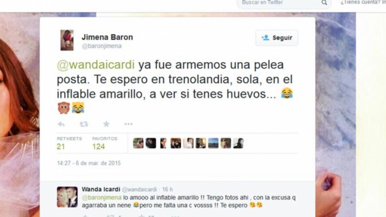 Wanda Nara se solidarizó con Jimena Barón por su violento asalto en Twitter.