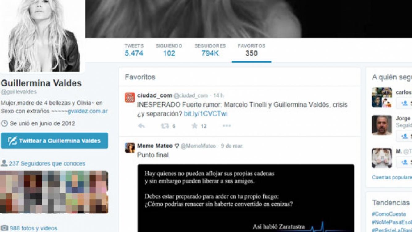 Los favoritos de Guillermina Valdés. (Fotos: Twitter)
