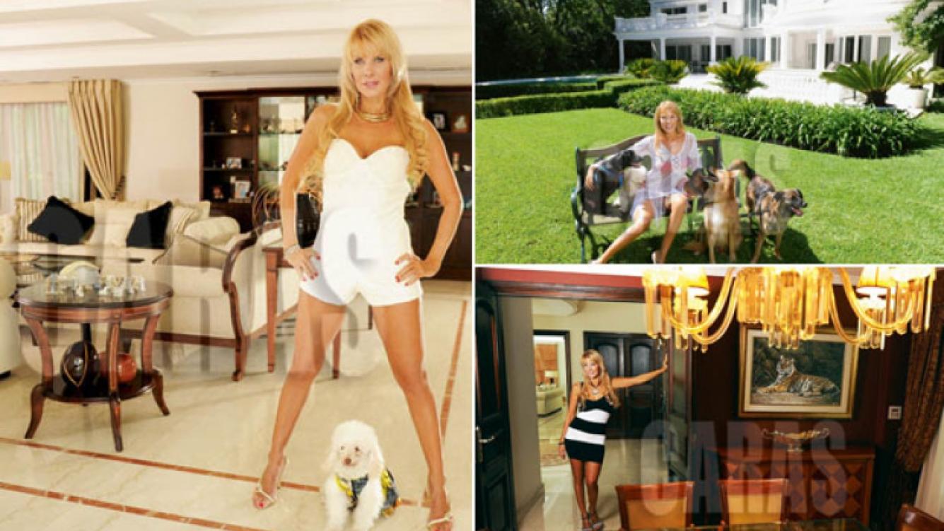 Karen Reichardt abrió las puertas de su increíble mansión. (Foto: revista Caras)