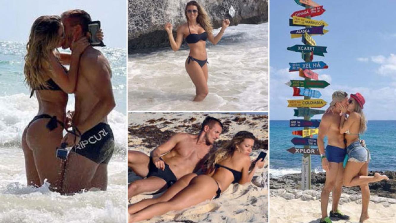Dallys Ferreira y su novio, súper sexies y mimosos, en Playa del Carmen. (Foto: revista Gente)