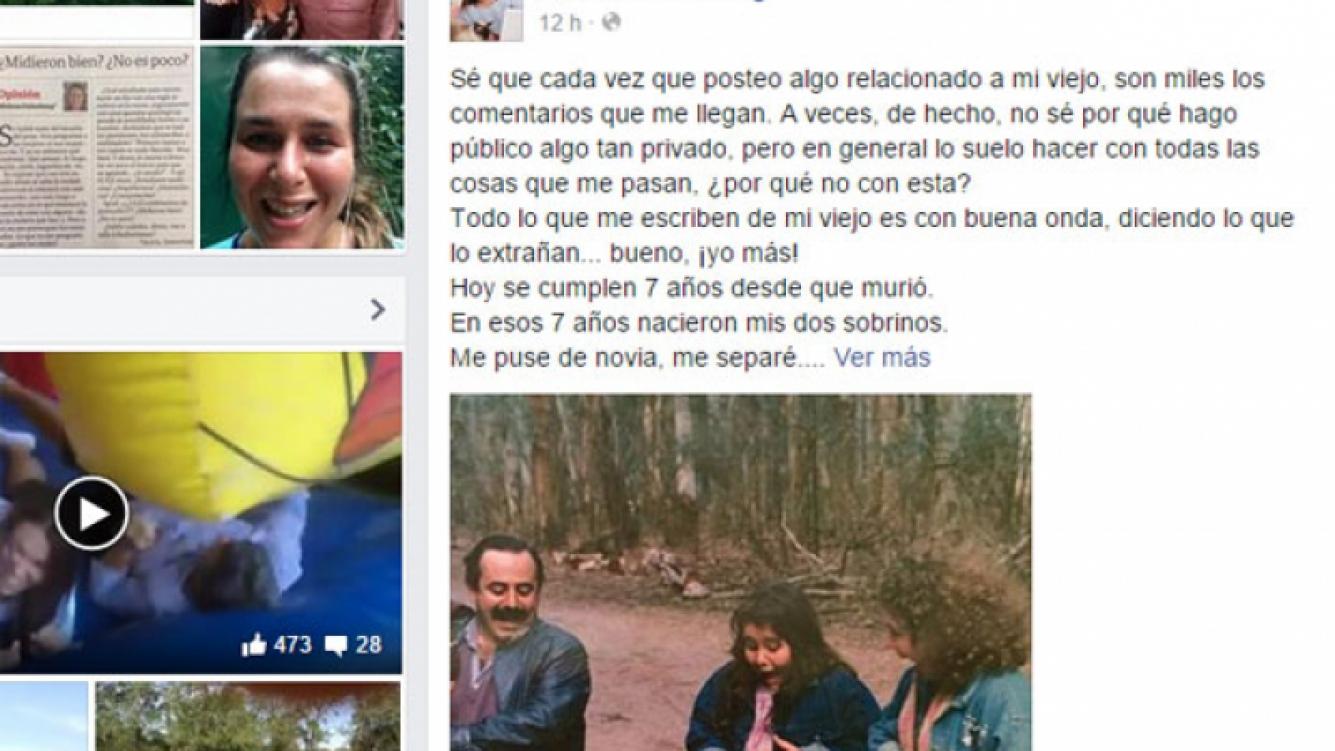 Malena Guinzburg le dedicó un emotivo mensaje a su papá (Fotos: Web).