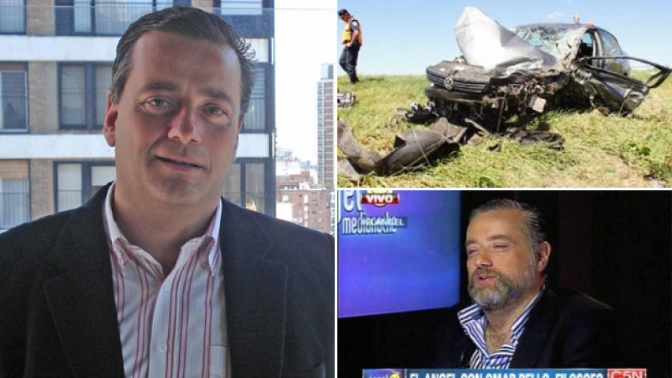 Murió el periodista Omar Bello en un violento accidente automovilístico. (Foto: Web)