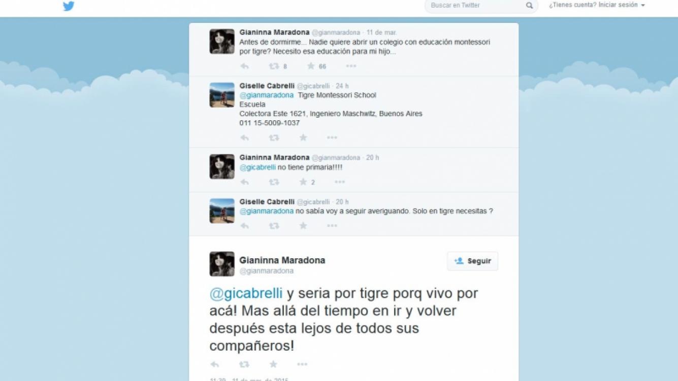 Gianinna Maradona y el método de enseñanza que quiere para su hijo. (Foto: Twitter)
