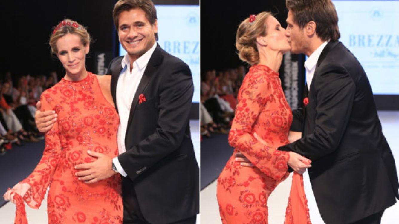 Guillermo Andino desfiló con su mujer, Carolina Prat: ella lució su pancita de 8 meses (Gentileza Najun-Funes)