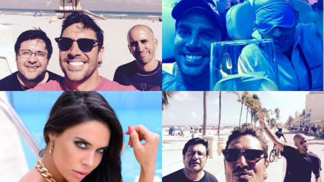 Matías Alé, lejos de Ravelli y de vacaciones con amigos (Fotos: Twitter).