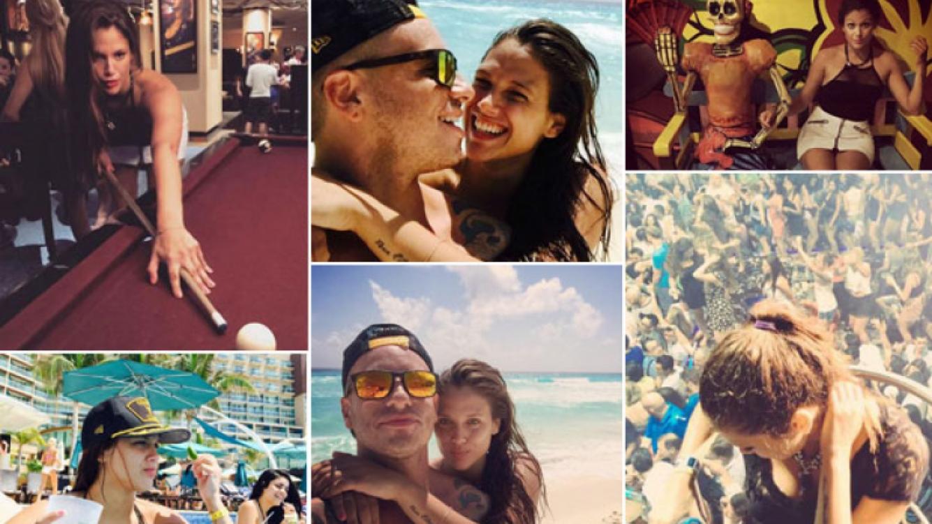 Federico Bal y Barbie Vélez, playa, tragos y vida nocturna en Cancún. (Foto: Twitter)