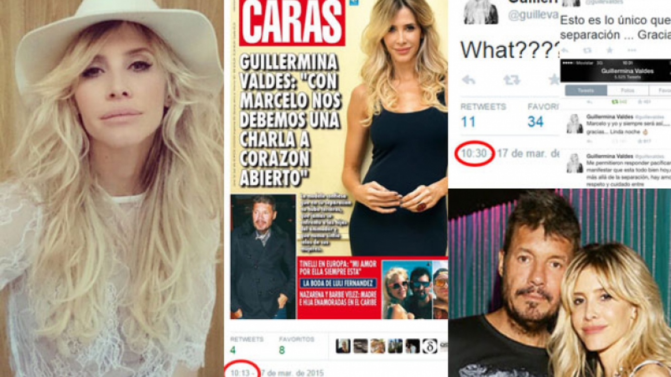Guillermina Valdés y su reacción al ver la nueva tapa de Caras(Fotos: Web y Caras).