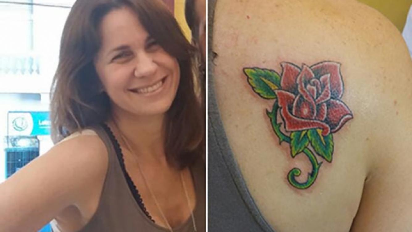 Nancy Dupláa se tatuó una flor en su omóplato derecho. (Foto: American Tattoo)