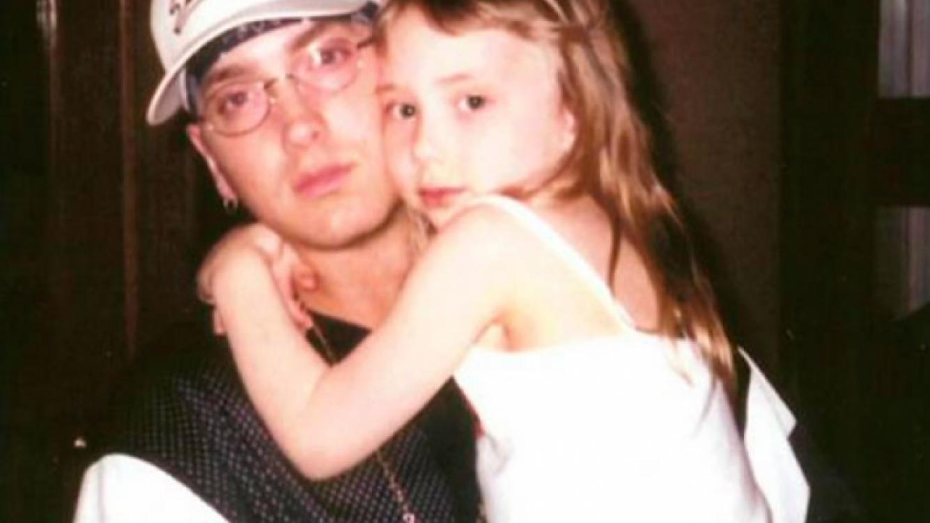 Hailie junto a Eminem, su famoso padre,  cuando tenía 10 años. (Foto: Web)