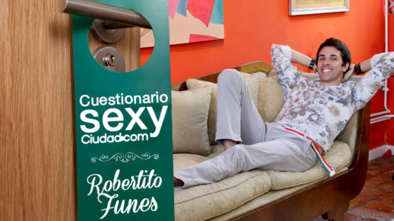 Robertito Funes Ugarte no se calló nada en el Cuestionario Sexy de Ciudad.com.