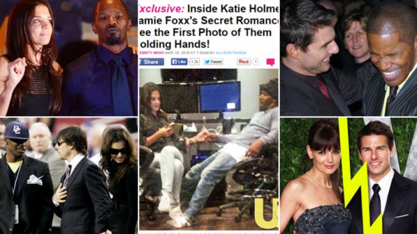 La ex y el amigo de Tom Cruise: Katie Holmes y Jamie Fox, muy mimosos (Fotos: Web).