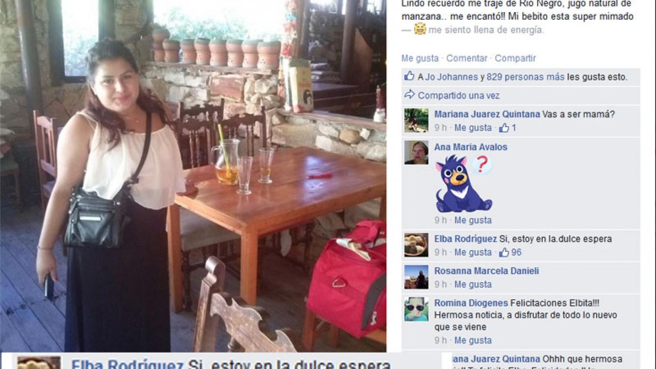 Elba Rodriguez, embarazada. (Foto: Facebook.com/elba.rodriguez.9484)