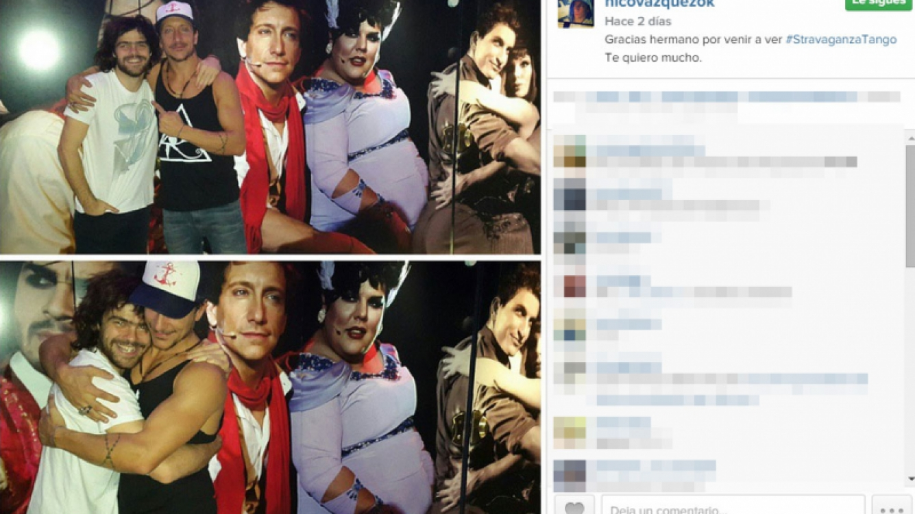Peter Lanzani fue al teatro a ver a Nico Vázquez: llegó con pelo largo y se fue con un look nuevo  (Foto: Instagram)