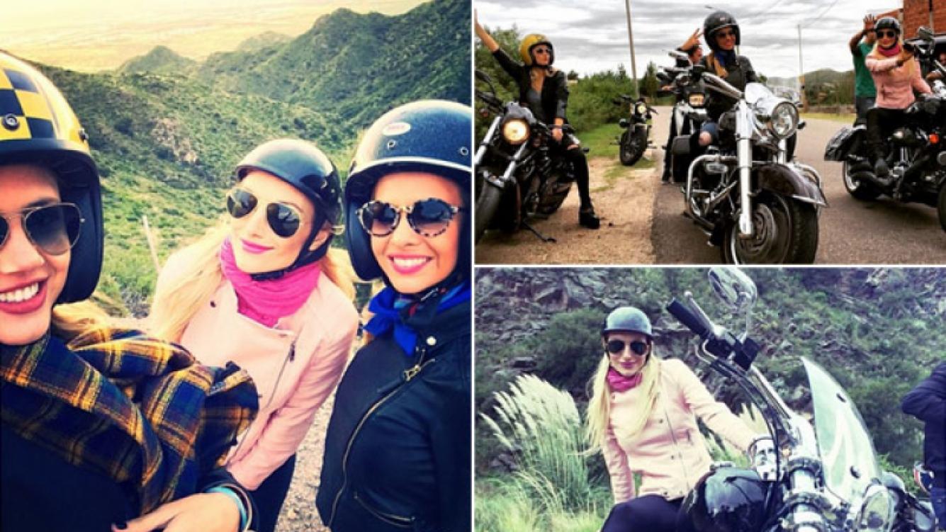 Alejandra Maglietti, Sofía Macaggi y Stephanie Demner, en las rutas de San Luis. (Foto: Instagram)