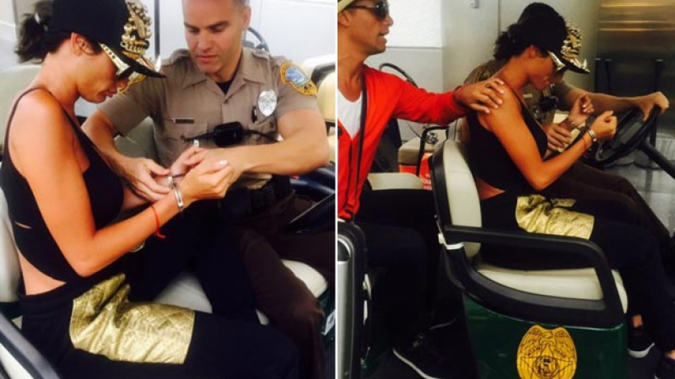 Las imágenes de Vicky Xipolitakis con esposas en el Aeropuerto de Miami (Fotos: Galo Sotto, asistente de Xipolitakis)