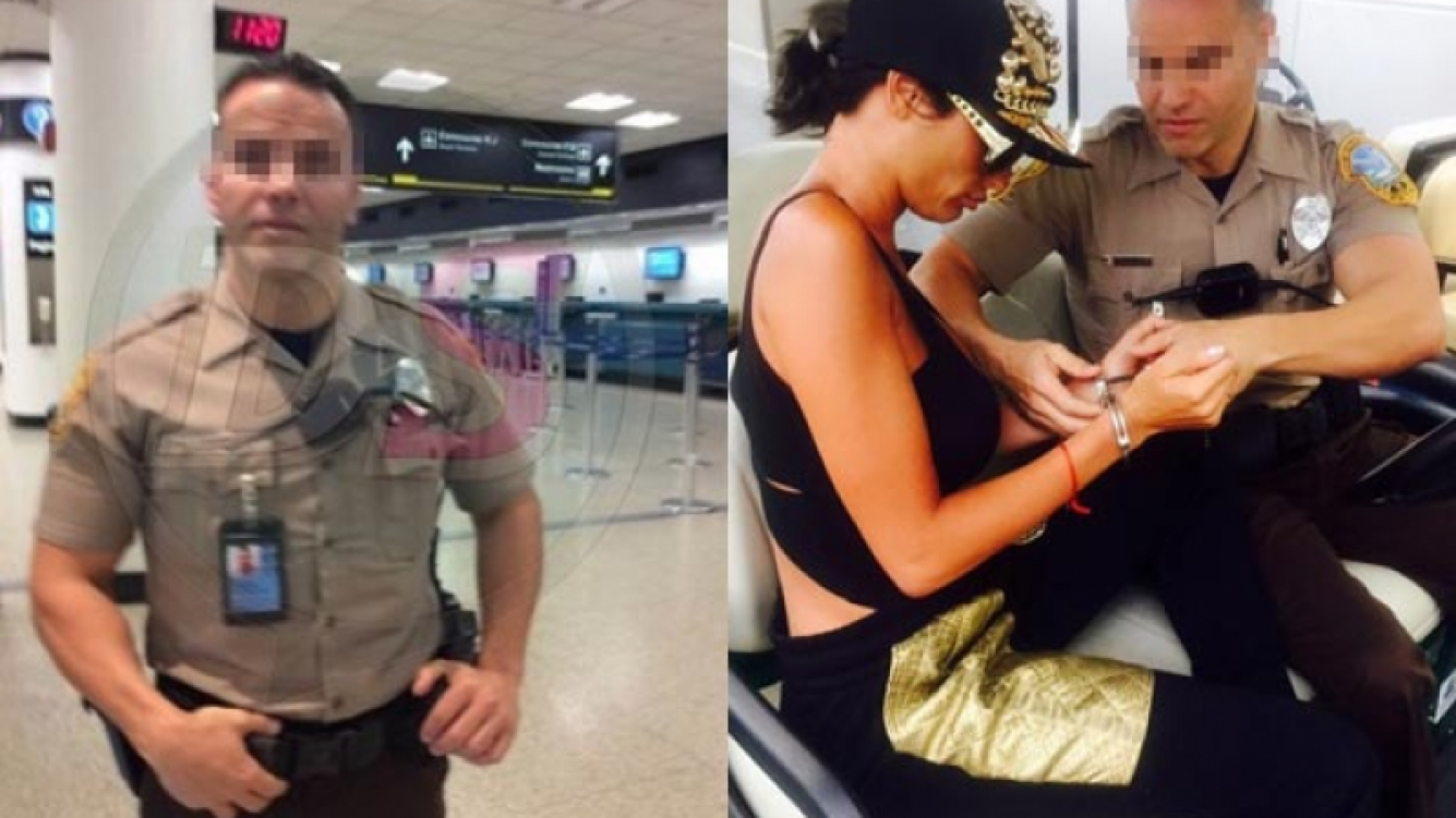 El policía de la foto es cubano y sus iniciales son J.A. (Foto: Diarioshow.com)
