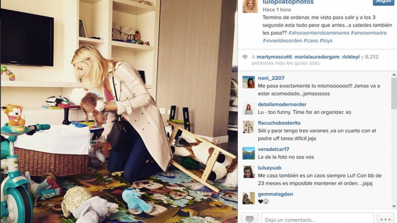 Luisana Lopilato ordena el desastre que le hizo su hijo, Noah Bublé. (Foto: Instagram)