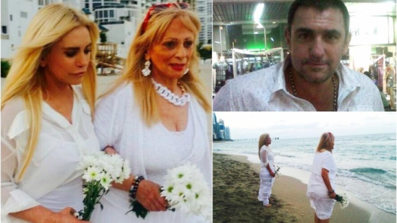 El homenaje de Silvia Rodríguez y su madre a Fabián Rodríguez. (Foto: Facebook)
