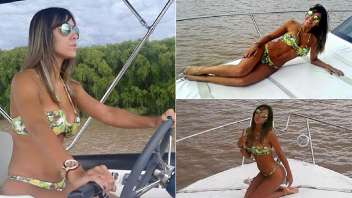 Floppy Tesouro, una diosa en bikini a bordo de un yate (Foto: Twitter)