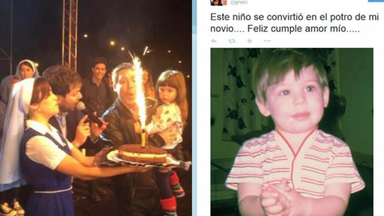 Adrián Suar festejó su cumple en Esperanza Mía y recibió un dulce tweet de Siciliani. (Fotos: eltrecetv.com y Twitter)