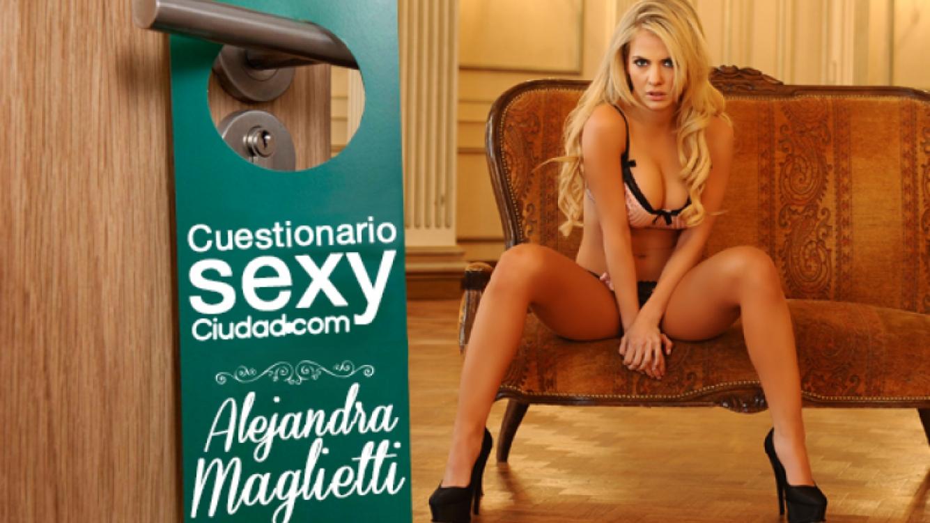 ¡El Cuestionario Sexy de Ciudad.com! Alejandra Maglietti. (Foto: Ciudad.com)