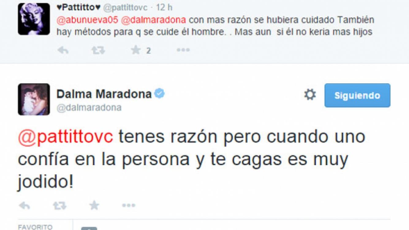 Dalma Maradona, filosa contra Verónica Ojeda (Fotos: Web y Archivo Ciudad.com).