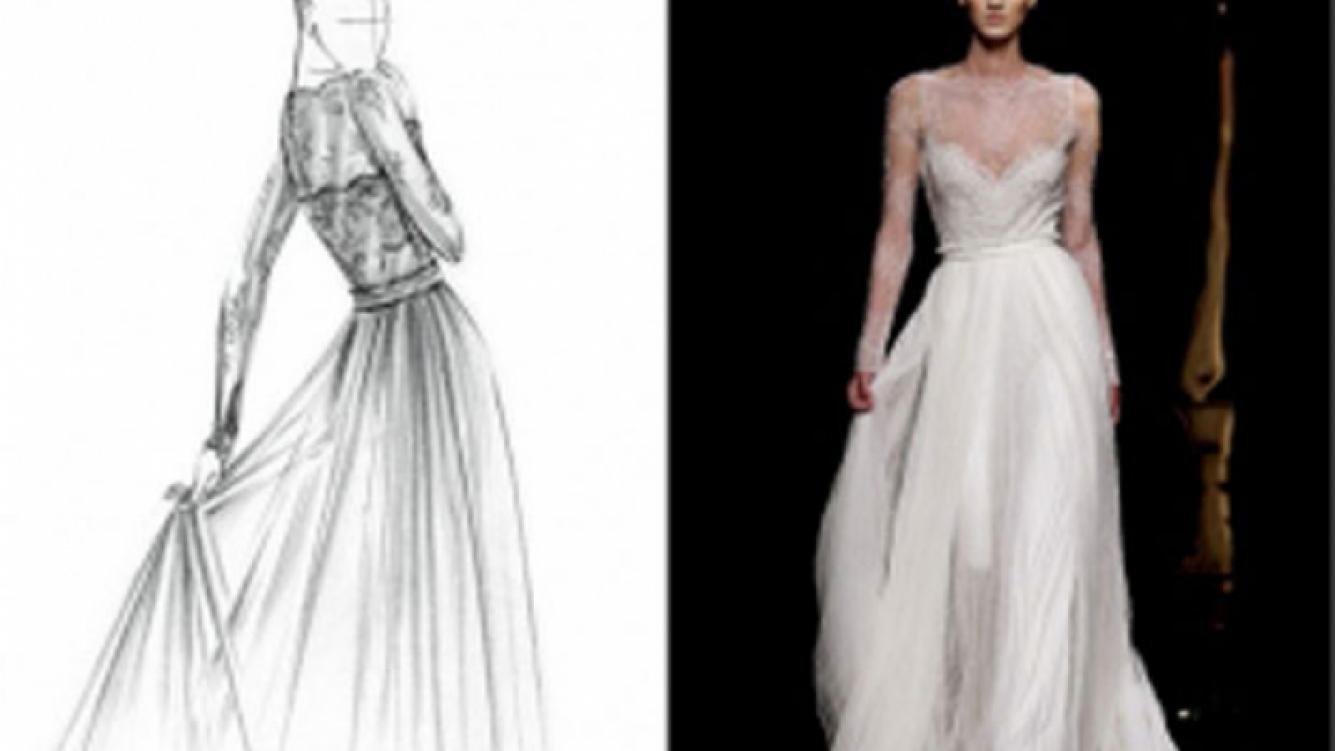 El vestido de novia de Zaira Nara. (Foto Web)