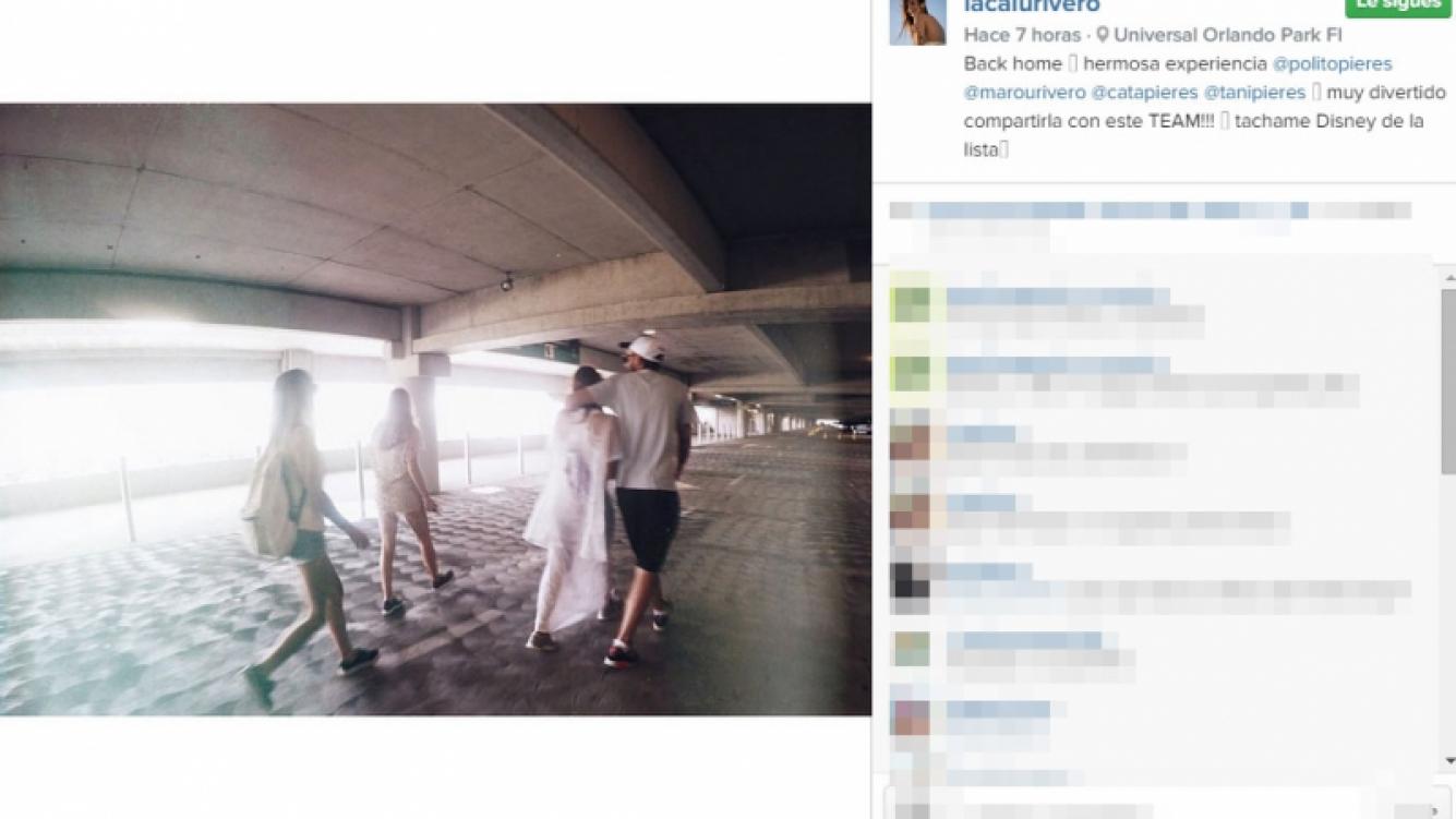 Calu Rivero y Polito Pieres pasaron una tarde a pura diversión en un parque de juegos de Orlando (Foto: Instagram)