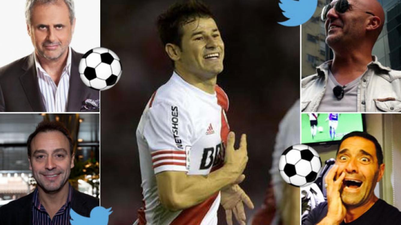 Jorge Rial, Adrián Pallares, Mariano Iúdica y el Pelado López festejaron la victoria de River en Twitter. (Foto: Web)