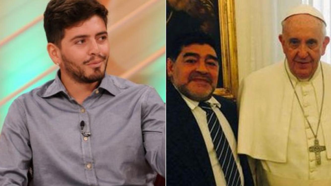 """Diego Junior, tras el pedido de Francisco a Maradona para que lo reconozca: """"Ojalá mi padre le haga caso al Papa"""" (Foto: Web y Twitter)"""