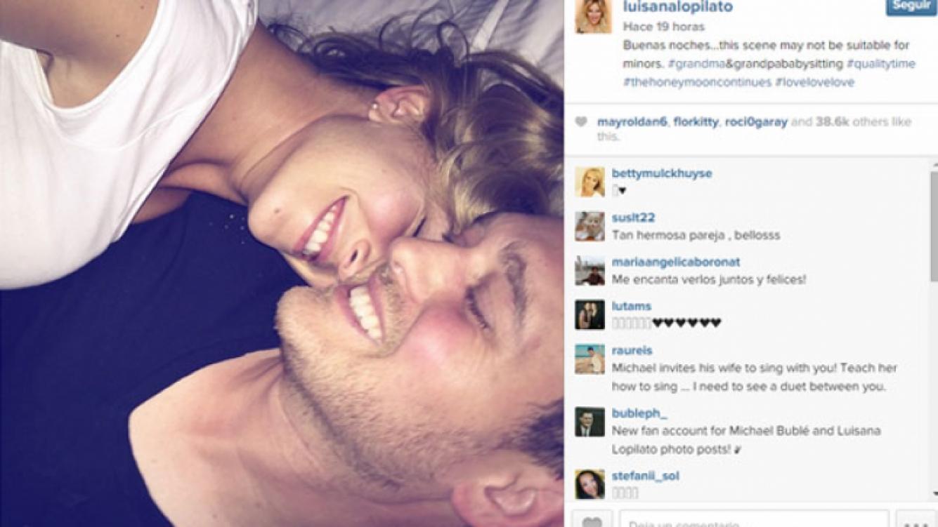 Luisana Lopilato y Michael Bublé, súper enamorados en la Web (Fotos: Instagram).