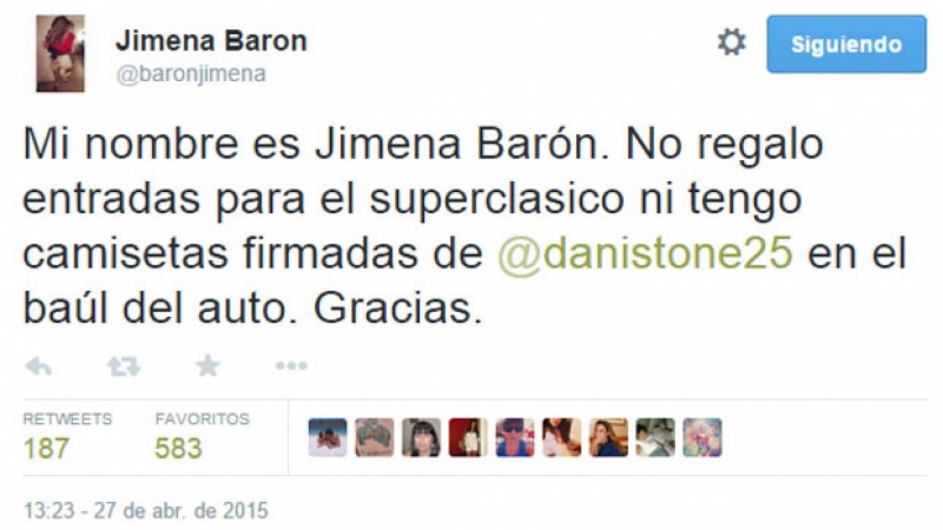 Jimena Barón, cansada de los pedidos por su marido (Fotos: Captura).