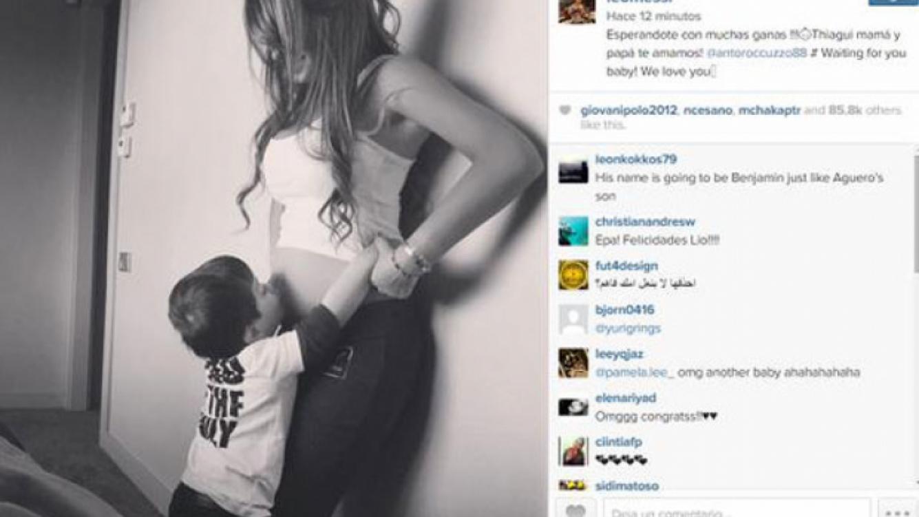 Lionel Messi confirmó el embarazo de su mujer, Antonella Roccuzzo (Foto: Instagram).