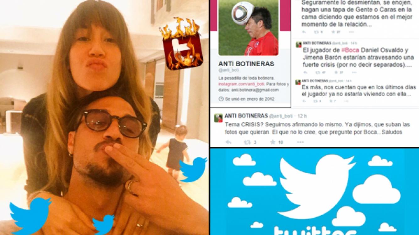 Jimena Barón y Daniel Osvaldo, rumores de separación. (Foto: Twitter)