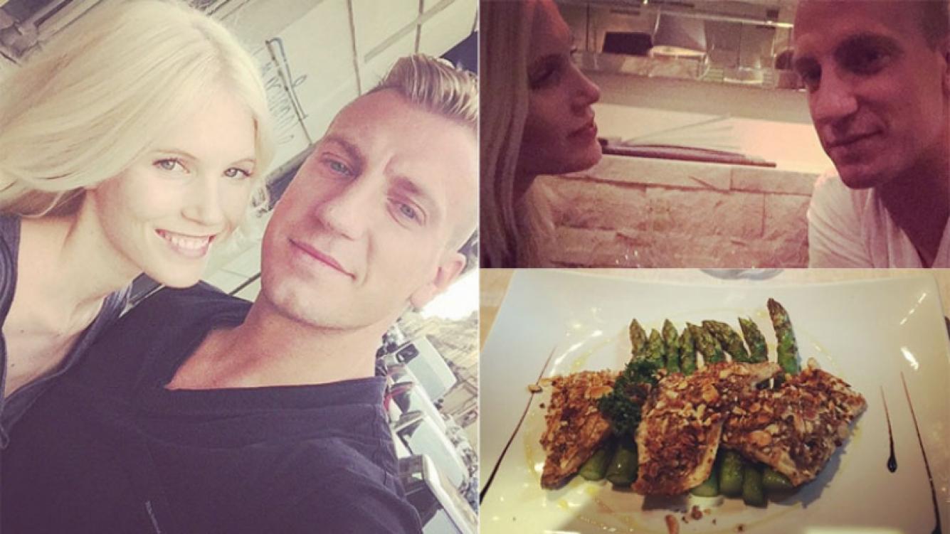 Maxi López sigue con Daniela Christiansson, su novia sueca (Foto: Instagram)