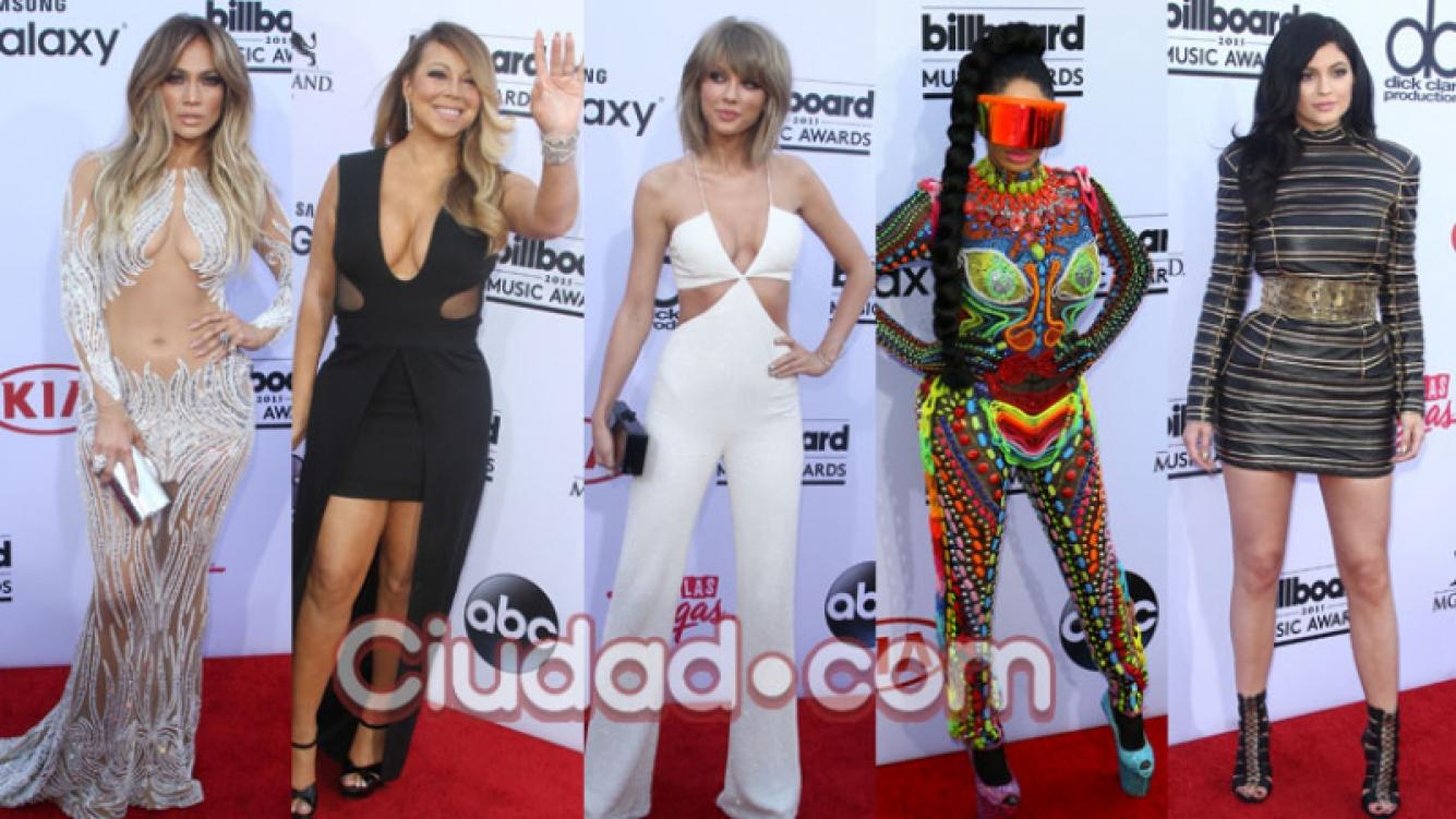 Los looks de la alfombra roja en los Premios Billboard 2015 (Fotos: Grosby Group).