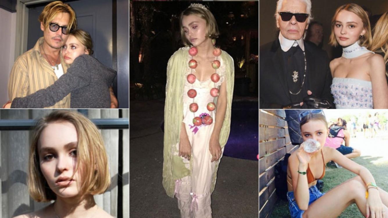 Lily-Rose Depp, la bella hija de Johnny Depp y Vanessa Paradis (Fotos: Web).