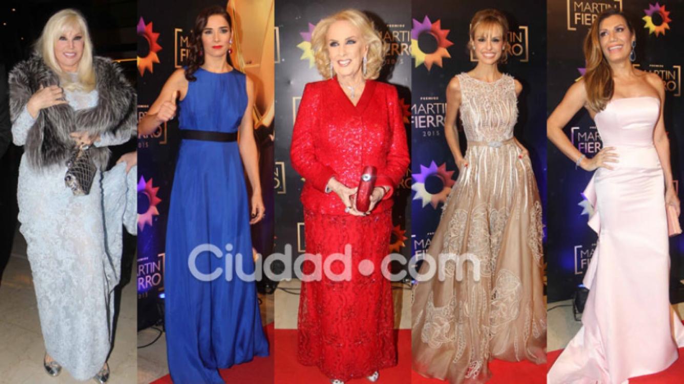 Todos los looks de la alfombra roja de los Martín Fierro 2015 (Fotos: Movilpress- Ciudad.com).