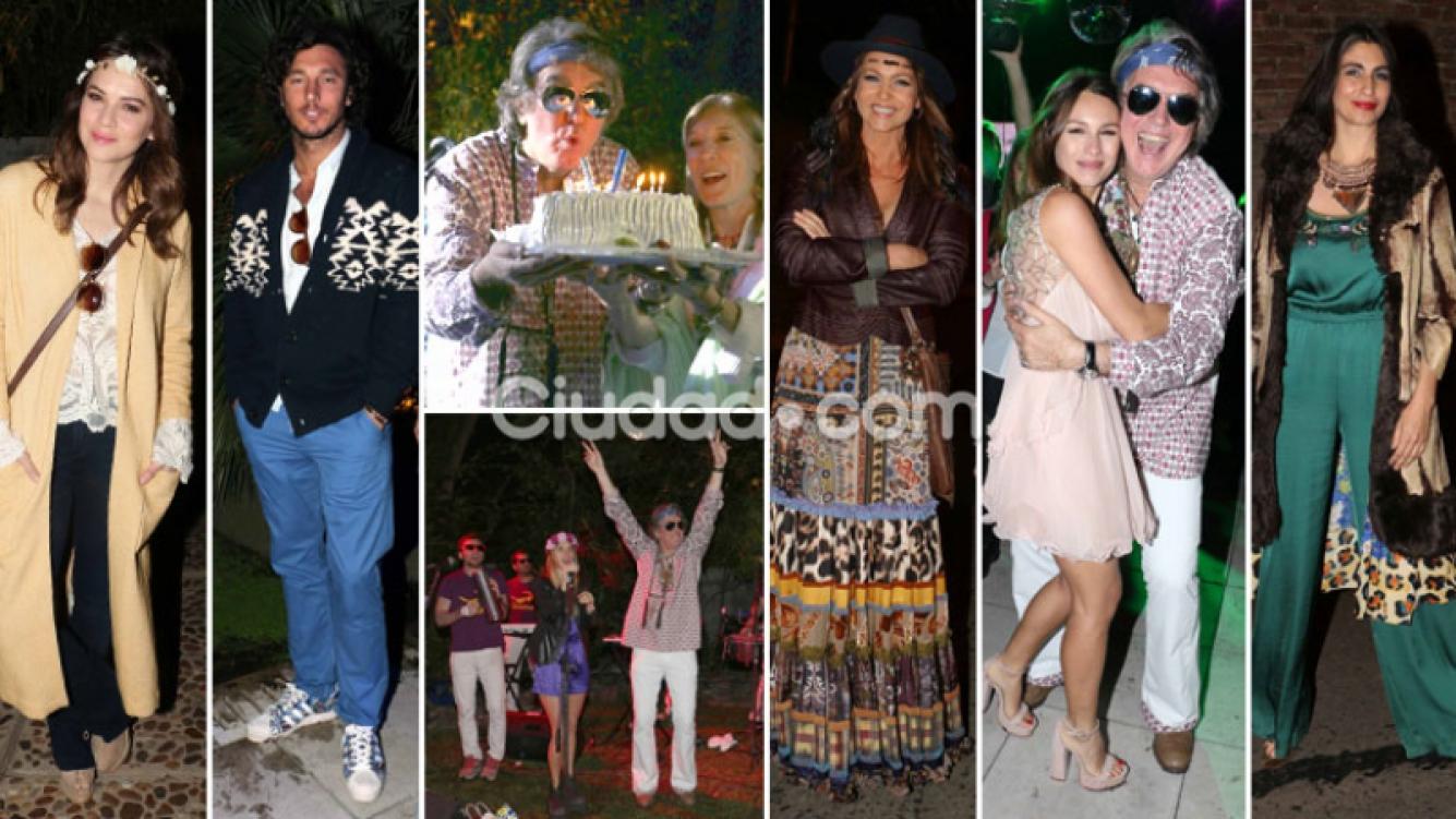 La súper fiesta 'hippie chic' de Pancho Dotto por sus 60 años. (Foto: Movilpress)