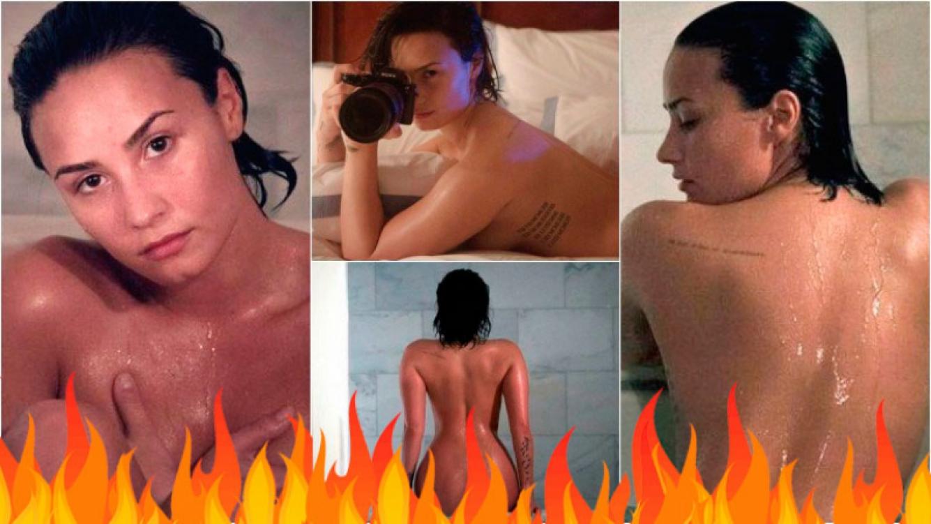 Demi Lovato y sus sensuales fotos hot desnuda. Foto: Vanity Fair